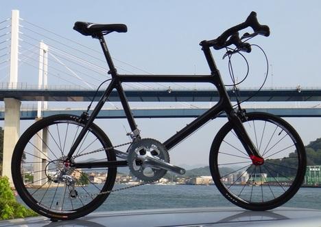 カーボンミニベロ SPARTAN Lサイズ ブルホーンバー・モデル