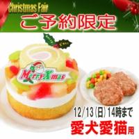 2015 クリスマスケーキ 予約 フルーツケーキとハンバーグ