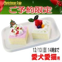 2015クリスマスケーキ予約プチケーキセット 犬猫ペット用