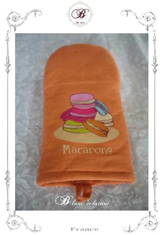 マカロン柄 鍋つかみ (オレンジ)