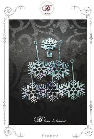 雪の結晶 キャンドルホルダー