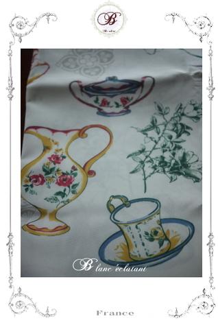 ティーカップ&お花 テーブルクロス