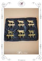 動物型チーズ6種類分別マーク