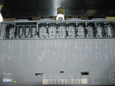 中古 ベンツ R230 左パワーシトコントロールユニット 2308203326 SL350 SL500 SL55