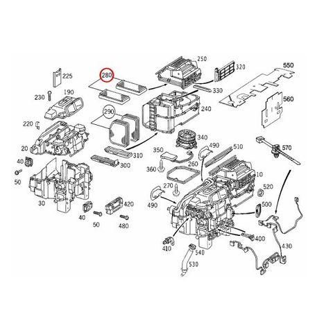 MEYLE製 ベンツ Sクラス W220 外気用エアコンフィルター/ダストフィルター 2枚入り 2108300018 2108301018 S320 S350 S430 4MATIC