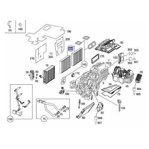 MANN製 ベンツ W221 Sクラス エアコンフィルター/キャビンフィルター 活性炭入り 2枚セット CUK2722 2218300018 S500 S550 S600