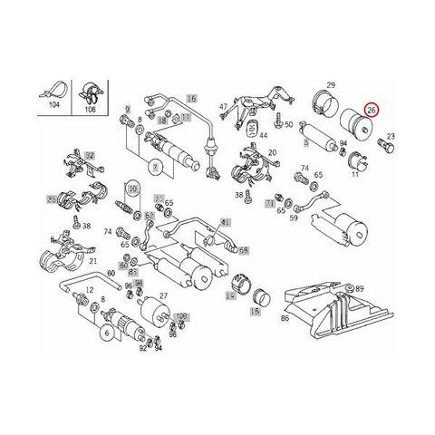 BOSCH製 ベンツ Gクラス W460  燃料フィルター/フューエルフィルター 0024774501 71051 0024771901 230GE