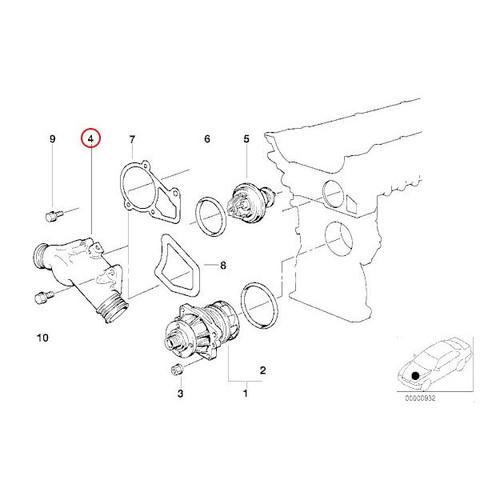 BMW E34 E36 Z3 サーモスタットハウジング/コネクションフランジ 新品 11531722531