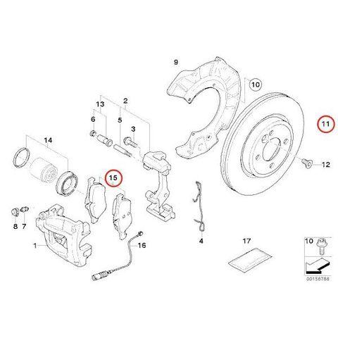MEYLE製 BMW MINI ミニ R50 R52 R53 プラチナム防錆仕様 フロントブレーキローター&ブレーキパッド左右セット 低ダストタイプ 40406016 D76SM