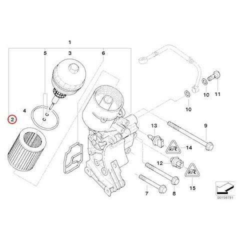 BMW 3シリーズ E46 エンジンオイルフィルター/オイルエレメント M52 M54 エンジン用 11427512300 320i 323i 325i 328i 330i