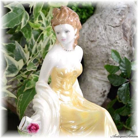 ロイヤルウースター ROYAL WORCESTER 金婚式記念フィギュリン Golden Wedding Anniversary 西洋陶磁人形