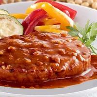 三育フーズ トマトソース野菜大豆バーグ調理例