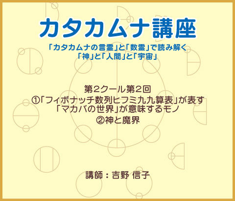 カタカムナ講座DVD 第2クール・第2回