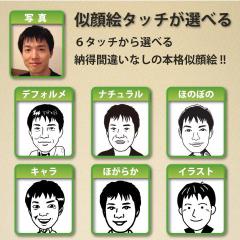 似顔絵タッチを選ぶ