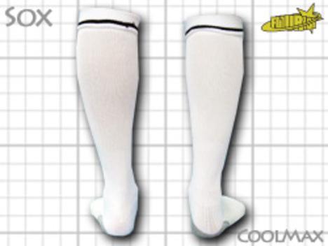 CoolMAX採用 コンプレッションソックス 白 S or M or Lサイズ