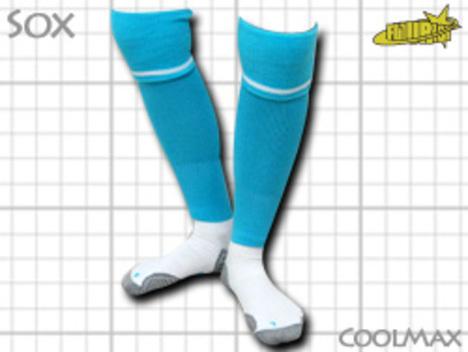 CoolMAX採用 コンプレッションソックス 水色 S or M or Lサイズ