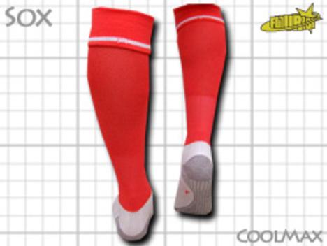 CoolMAX採用 コンプレッションソックス サーモン・オレンジ S or M or Lサイズ