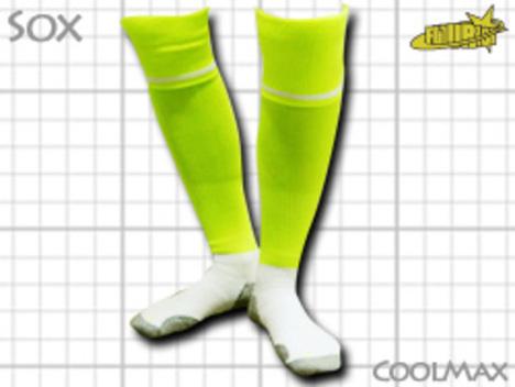 CoolMAX採用 コンプレッションソックス ネオン系=蛍光黄色 S or M or Lサイズ