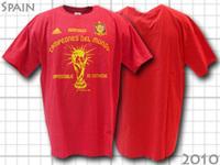 2010 スペイン代表 W杯優勝Tシャツ
