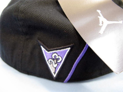 エアジョーダン7 レトロフィットキャップ 黒x紫