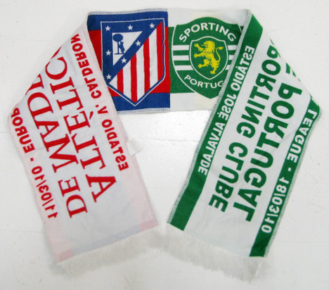 UEFAヨーロッパリーグ(EL) 10/11 スポルティングvsアトレチコ対戦記念 タオルマフラー