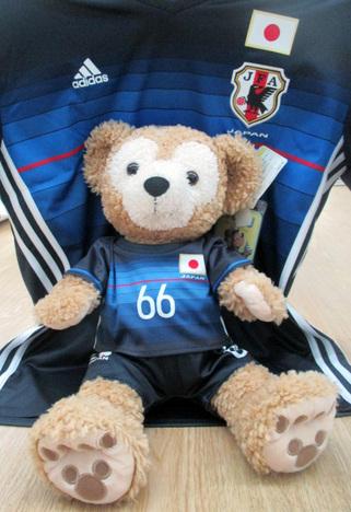サッカー日本代表風の衣裳 上下セット