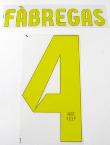 12/13、13/14シーズン FCバルセロナ ホーム・サード用オフィシャルナンバー