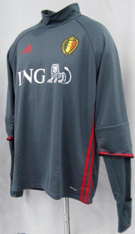 ベルギー代表 トレーニングトップ スポンサー付・長袖