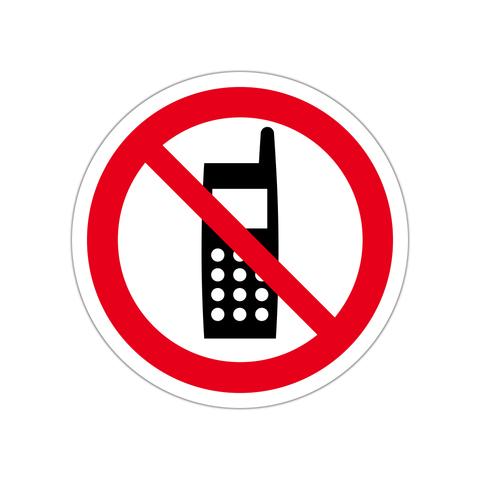 携帯電話使用禁止ステッカー