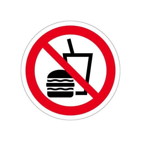 飲食禁止ステッカー
