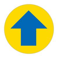 路面表示ステッカー 円形・青色矢印