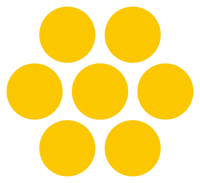 路面表示ステッカー 円形ライン表示(黄)