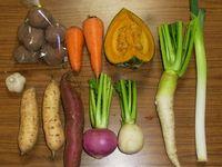 自然農法・自然栽培 野菜セット(秋季) Sサイズ(2~3.5㎏)