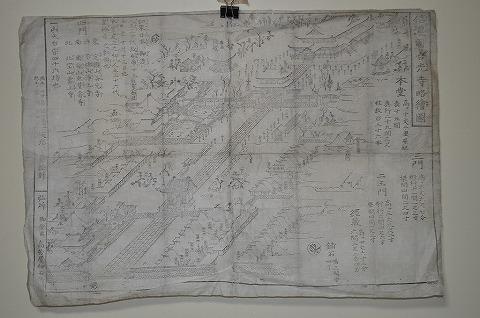 江戸 浮世絵 木版画 鳥瞰図 地図 『信濃善光寺略絵図』名所