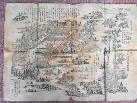 明治 地図 絵図『熊野夫須美神社略図』紀伊 和歌山