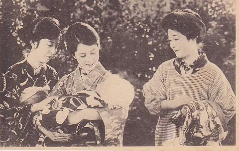 大正・映画ブロマイド 3人の女性