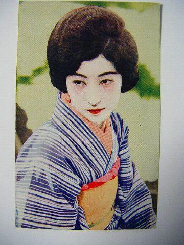 大正 映画 ブロマイド『恥かしい夢 八雲恵美子』