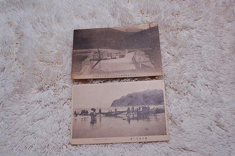 日本絵葉書『小田原電気鉄道株式会社 鎌倉由井ヶ浜』戦前 2枚一括