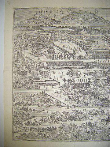 明治 地図 絵図 細密 銅版『大和国 談山神社 全図』奈良