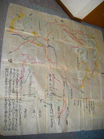 江戸 地図 『仙台 藩 領 江刺 彩色 肉筆  大 絵図 2点』