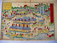 江戸 明治 地図 彩色 木版『草津 日光山 等 絵図5点』
