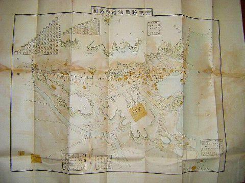 昭和初 戦前 地図 絵図 宮城『気仙沼 町勢一覧』郷土