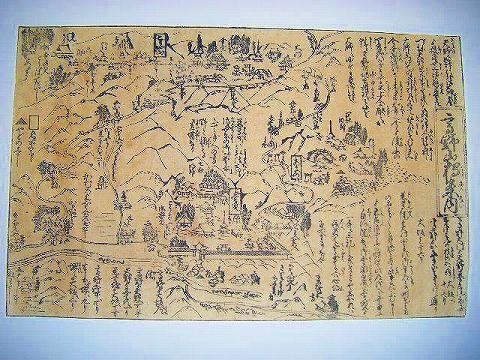 江戸 地図 絵図 奈良『吉野山 案内 』名所 木版画