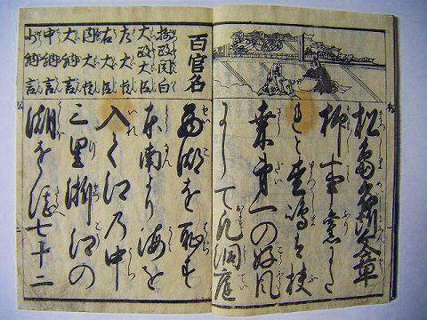 江戸 和本 絵図 仙台 旅『松島 名所 文章』往来