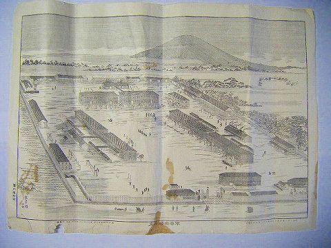 明治 地図 絵図 全図 銅版『歩兵三十一連隊 図』空翠