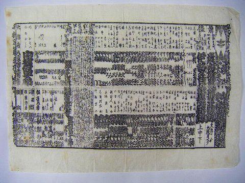 江戸 明治初 浮世絵 広告『歌舞伎 狂言 引き札 中村屋興行』
