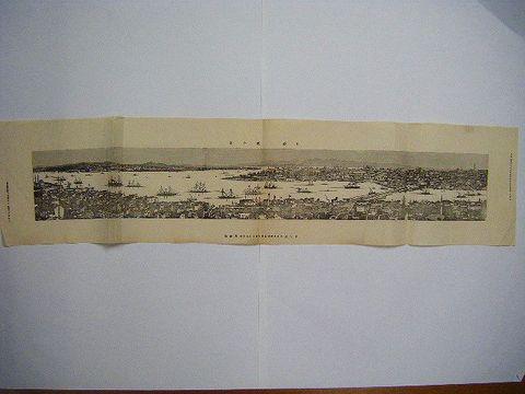 明治 絵図 地図 細密 銅版 トルコ『土都一望の図』