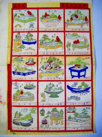 明治 浮世絵 園芸 おもちゃ『立版古 盆栽 庭画』