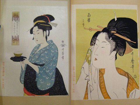 昭和 浮世絵 高見澤『彩色 木版 歌麿 名作 10点一括』
