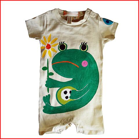 蛙ロンパース